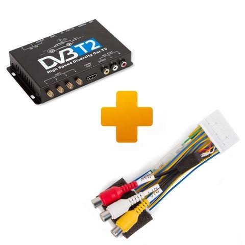 Цифровой тюнер DVB T2 и кабель подключения для мониторов Toyota Citroen и Peugeot X Touch X Nav