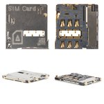 SIM Card Connector compatible with Samsung I9300 Galaxy S3, I9500 Galaxy S4, I9505 Galaxy S4, N7100 Note 2, N7105 Note 2