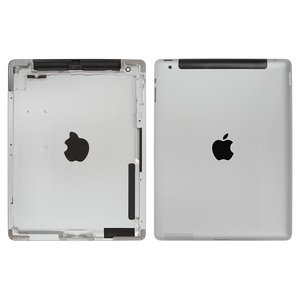 Back Cover for Apple iPad 2 Tablet, (silver, version 3G )