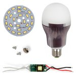 LED Light Bulb DIY Kit SQ-Q32 5730 12 W (cold white, E27)