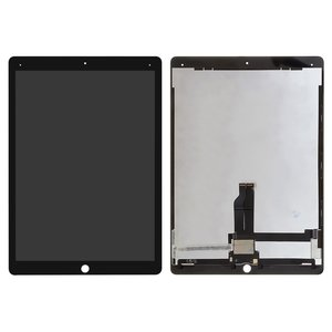 LCD for Apple iPad Pro 12.9 Tablet, (black, with touchscreen, with flat cable, A1584/A1652)