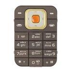 Teclado Nokia 7370, color café, caracteres rusos