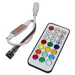 Controlador LED con control remoto IR TH2015-X-IR (RGB, WS2811, WS2812, 12 V)