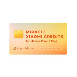 Créditos Miracle Xiaomi para Miracle Xiaomi Pack (Login Edition)