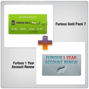 Продление доступа в зону поддержки Furious на 1 год + Furious Gold Pack 7