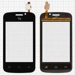 Сенсорный экран для мобильного телефона Fly IQ239, черный, тип 1