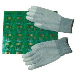 Антистатические перчатки Maxsharer Technology C0504-L с полиуретановым покрытием пальцев