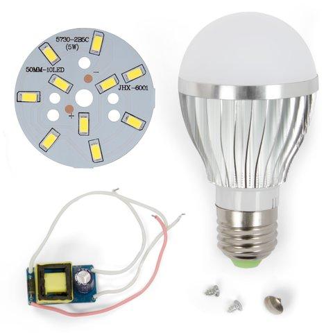 Комплект для збирання світлодіодної лампи SQ-Q02 5730 5 Вт (холодний білий, E27)