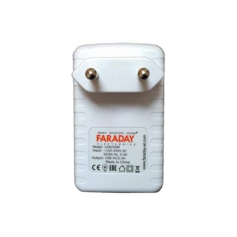AC DC перетворювач Faraday WM 12 Вт, 5 В, 2 А